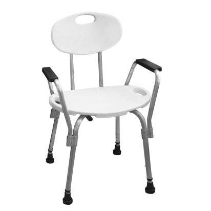 Cadeira Para Banho Com Encosto E Apoio Lateral Mebuki