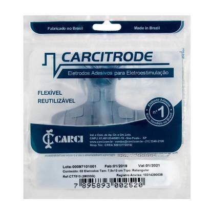 Eletrodo Descartável Carcitrode de Silicone Auto Adesivo 5x5cm com 4 unidades