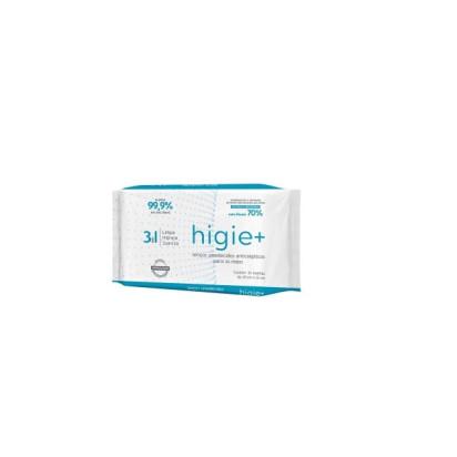 Toalha Antisseptica Umedecidas C/ALCOOL 70% Antisseptico Higie+
