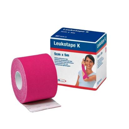 Bandagem Elástica Leukotape K 5cm x 5m Rosa BSN