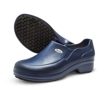 Sapato em E.V.A Antiderrapante Azul Marinho Soft Works