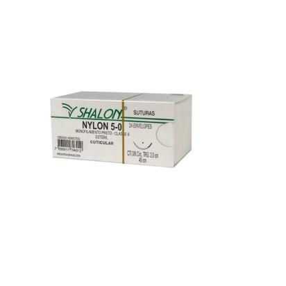 Fio nylon 4-0 c/ag 3/8 cir trg 2,5cm 45cm SHALON unidade