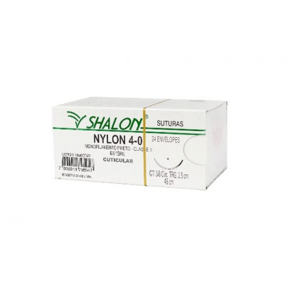 Fio nylon 4-0 s/ag 2,5 m Shalon