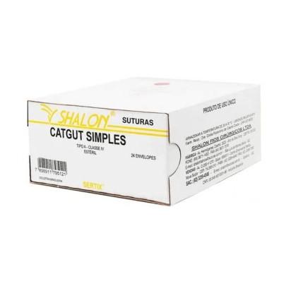 Fio nylon 5-0 c/ag 3/8 cir trg 3,0cm 45cm SHALON unidades