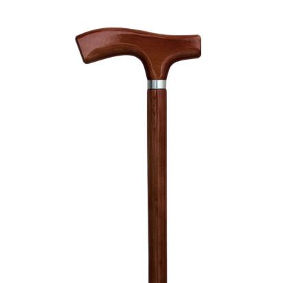Bengala madeira t-22 mogno lisa c/anel
