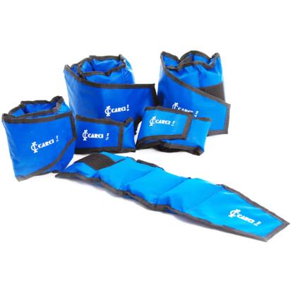 Tornozeleira com Velcro na cor azul da marca Carci