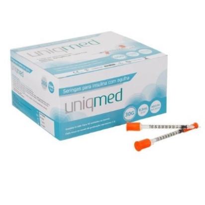 Seringa Descartável P/Insulina U-100