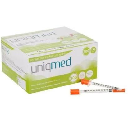 Seringa Desc P/Insulina U-100 1ml 30G 8X0,30    Unidade