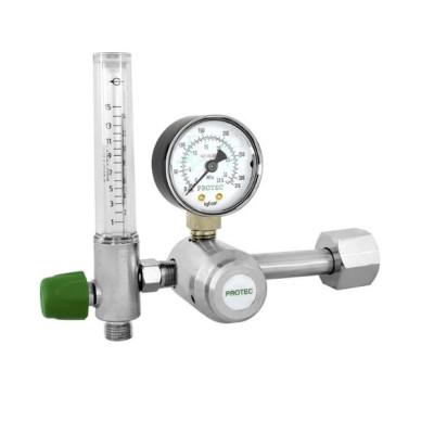 Valvula Reg Pressão p/Cilindro O2 c/Fluxometro PROTEC
